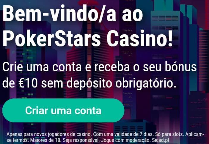 Bónus de boas vindas do Pokerstars Casino